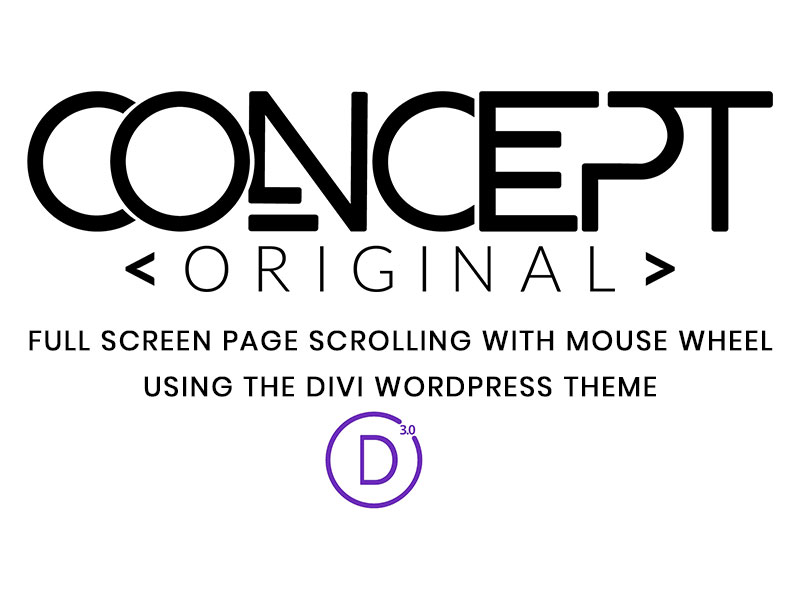 Tutorial – Full page scrolling on Divi with the mouse wheel
